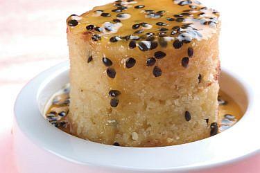 עוגת פסיפלורה יוגורט. צילום: דניאל לילה