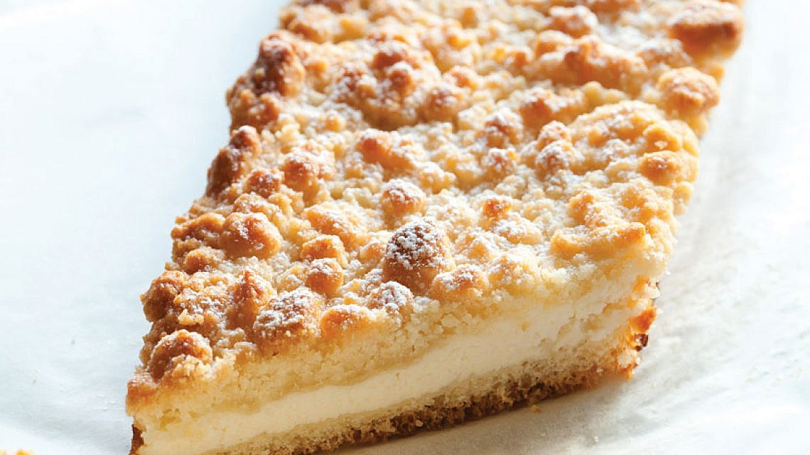 עוגת שמרים-ריקוטה-שטרויזל