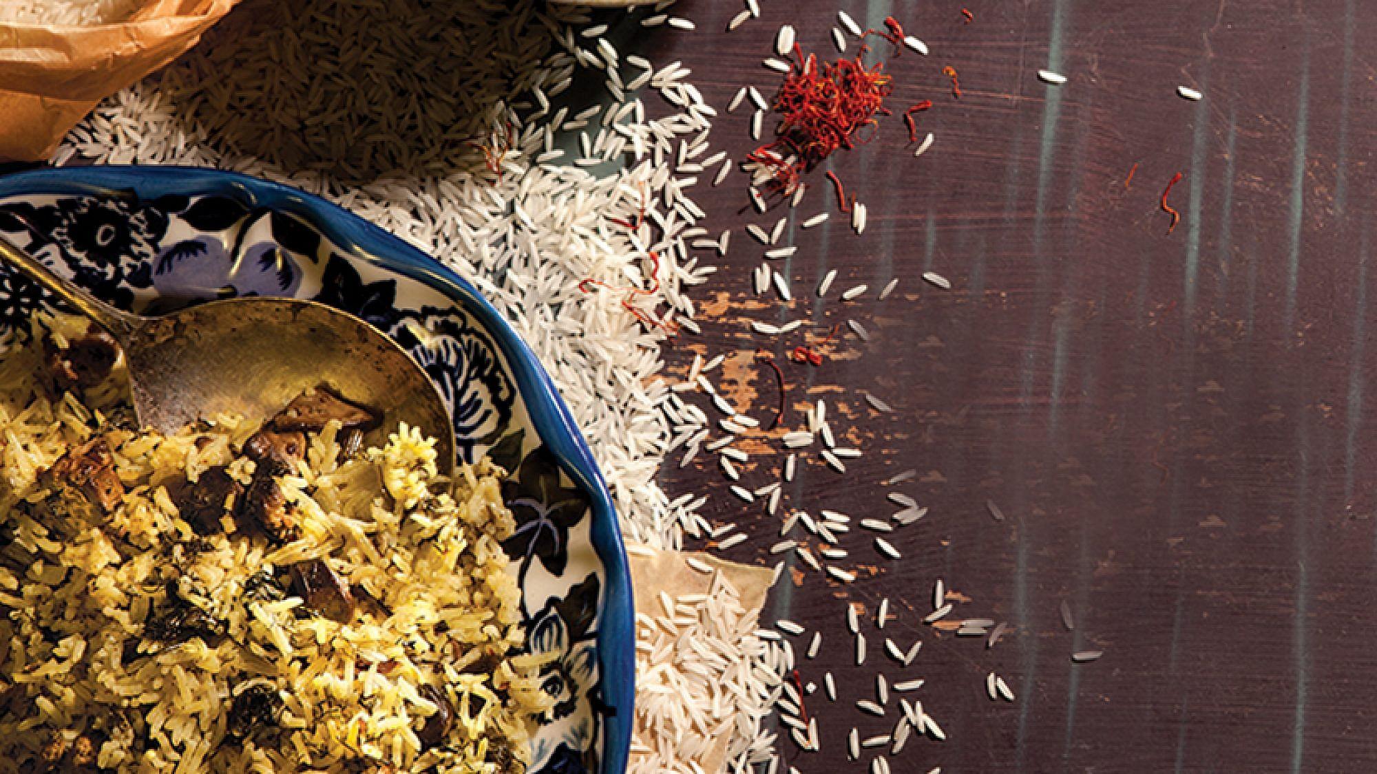 אורז בוכרי ירוק (בַּחְש). צילום: דן לב | סגנון: דלית רוסו