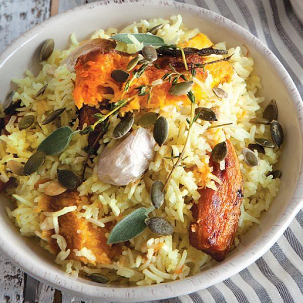 אורז עם ירקות כתומים. צילום: דן לב | סגנון: אוריה גבע