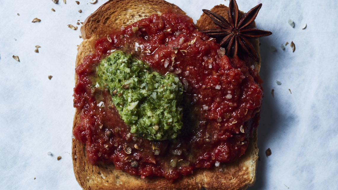 ממרח עגבניות, פלפלים ואניס של אינס ינאי צילום: בן יוסטר, סטיילינג: אלונה פלוסקי