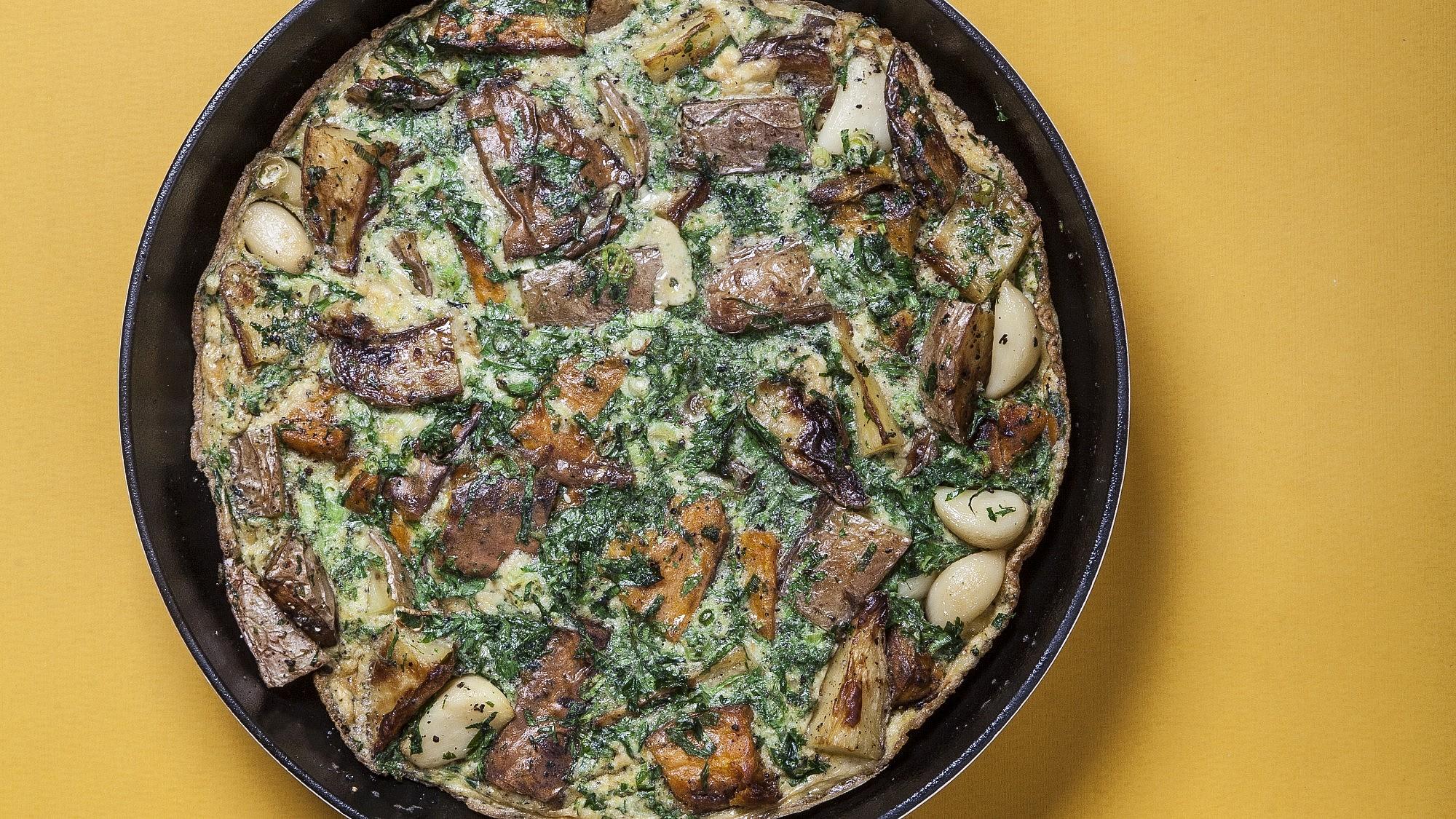 פריטטה ספרדית של שף ניר גוזמן. צילום: אפיק גבאי