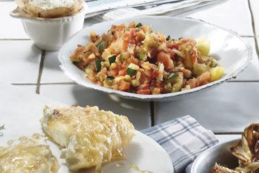 סלט ירקות שרופים של שף קובי בכר. צילום: אנטולי מיכאלו. סטיילינג : דלית רוסו