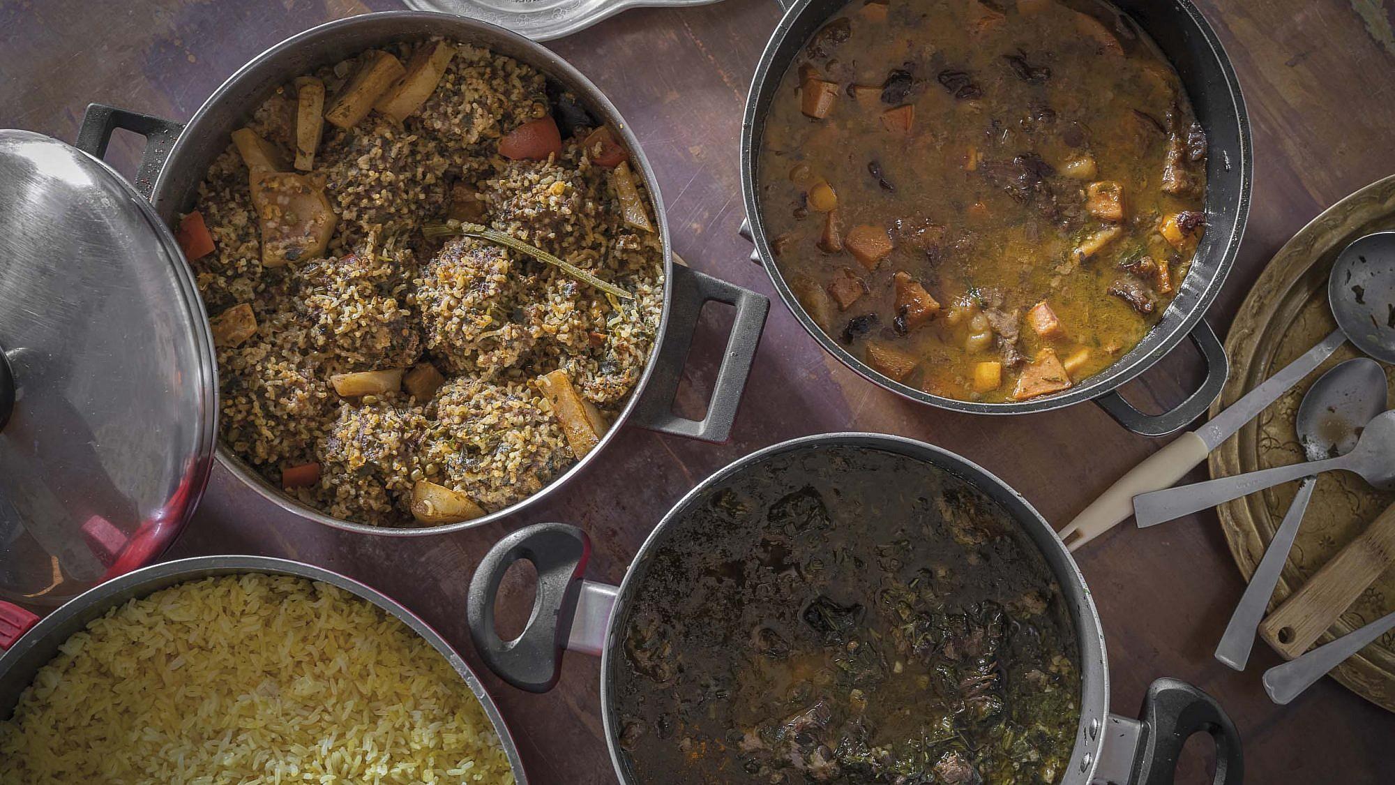 תבשילים פרסיים של דבורה כהן זאדה. צילום: אנטולי מיכאלו