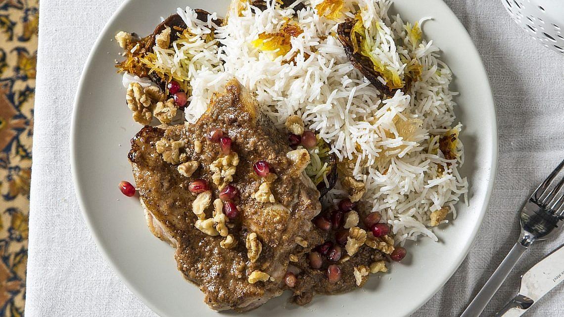 פסנג'ון - פרגיות ברוטב אגוזים ורכז רימונים של שפית דיאנה רחמני. צילום: אפיק גבאי