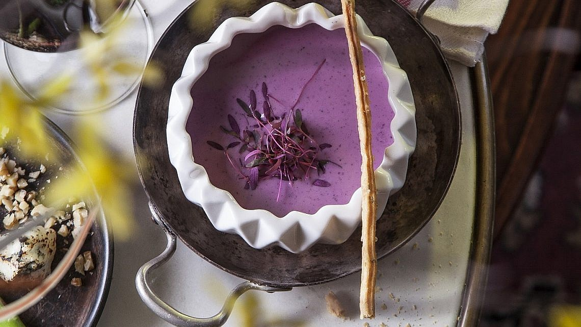 גספצ'ו סגול של שפית לירז שדה. צילום: אפיק גבאי