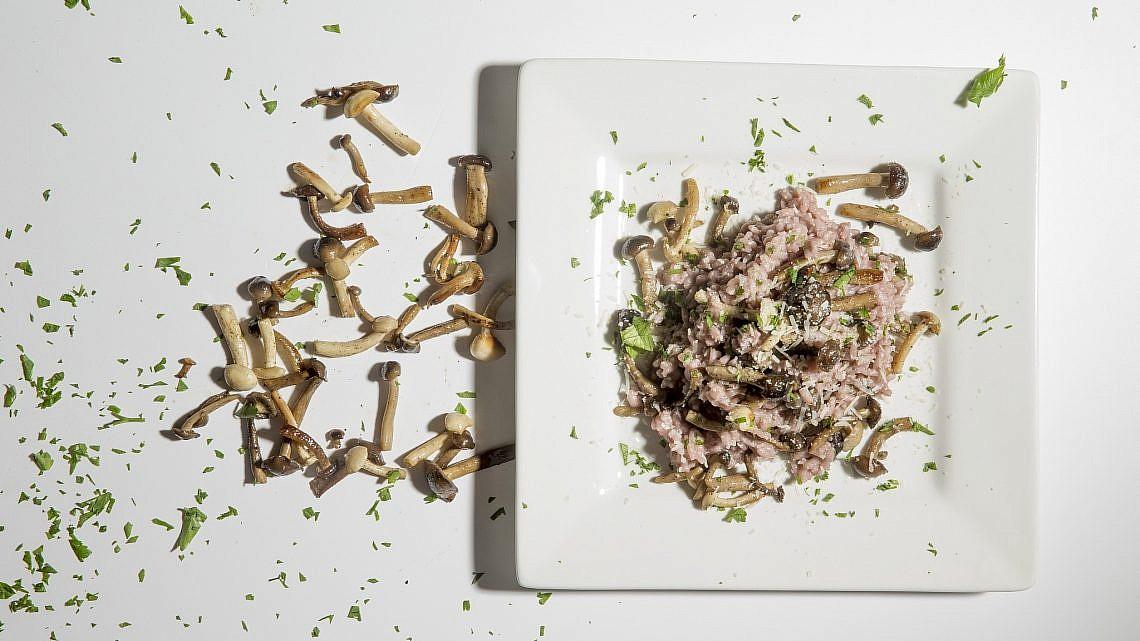 ריזוטו ביין אדום ופטריות של מסימיליאנו די מתאו. צילום: רמי זרנגר