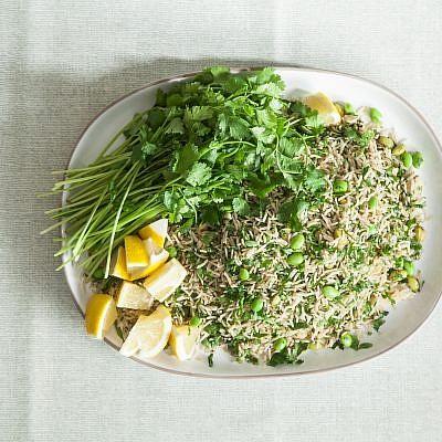 אורז ירוק עם פול של שף אמיר קרונברג. צילום: אפיק גבאי. סטיילינג: עמית פרבר