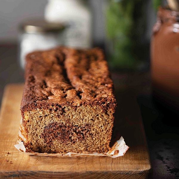 עוגה שיש מוקה נוטלה של מאיה דרין. צילום: דניאל לילה. סטיילינג: אוריה גבע