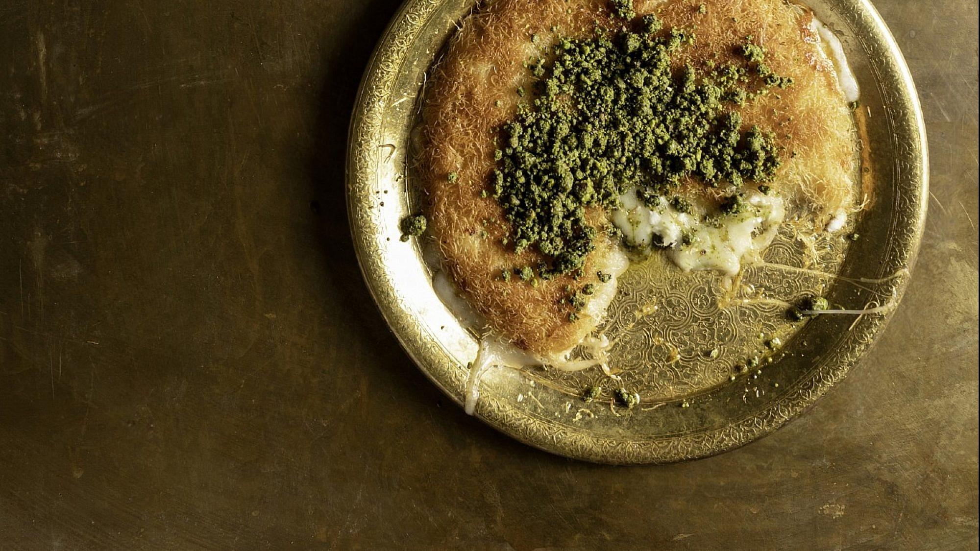 כנאפה עם גבינה ביתית של נוף עתאמנה אסמעיל. צילום: דניאל לילה