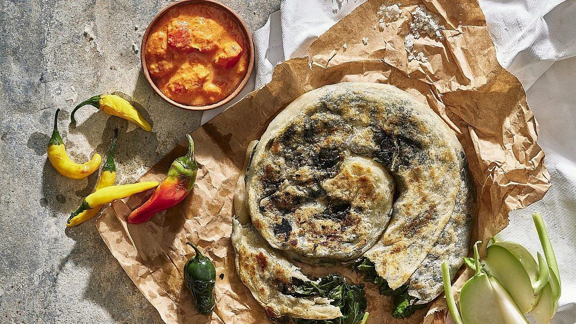 פאראטה חובזה של שף ענר בן רפאל. צילום: אנטולי מיכאלו. סטיילינג: דלית רוסו