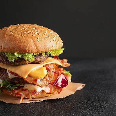 המבורגר מושחת. צילום: shutterstock