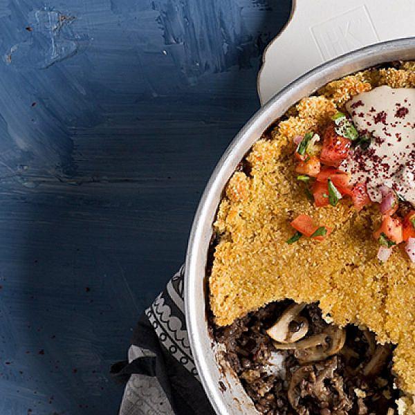 קובה סינייה מפטריות ועדשים | צילום: בועז לביא