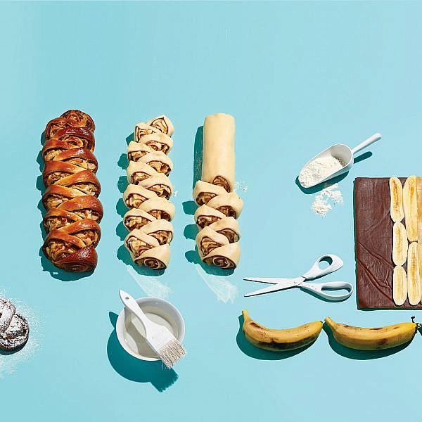 שיבולת מרציפן, שוקולד ובננות של ברי סייג | צילום: דן פרץ | סגנון: עמית פרבר