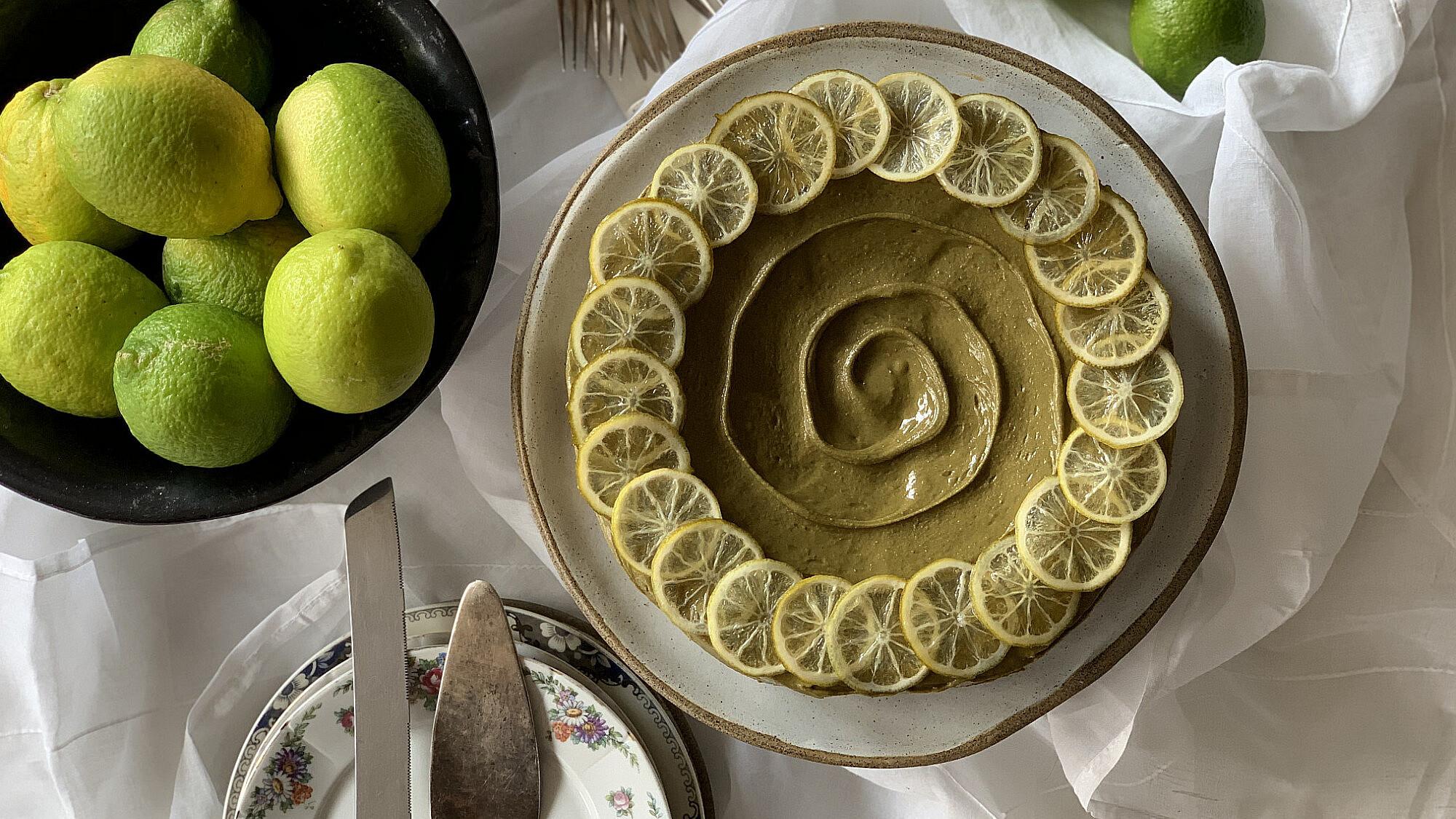 עוגת ליים ופיסטוק. ליאור משיח