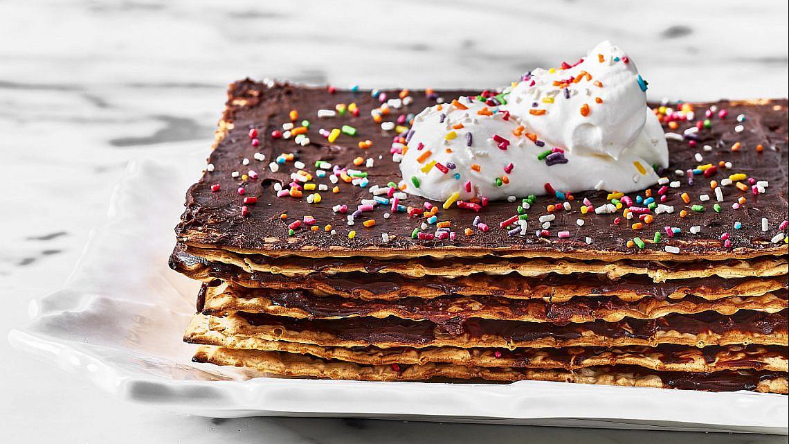עוגת מצות שוקולד של רותם ליברזון. צילום: אמיר מנחם