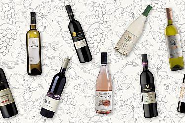 יינות ישראליים מומלצים עד 60 שקלים. עיצוב: לי גיל