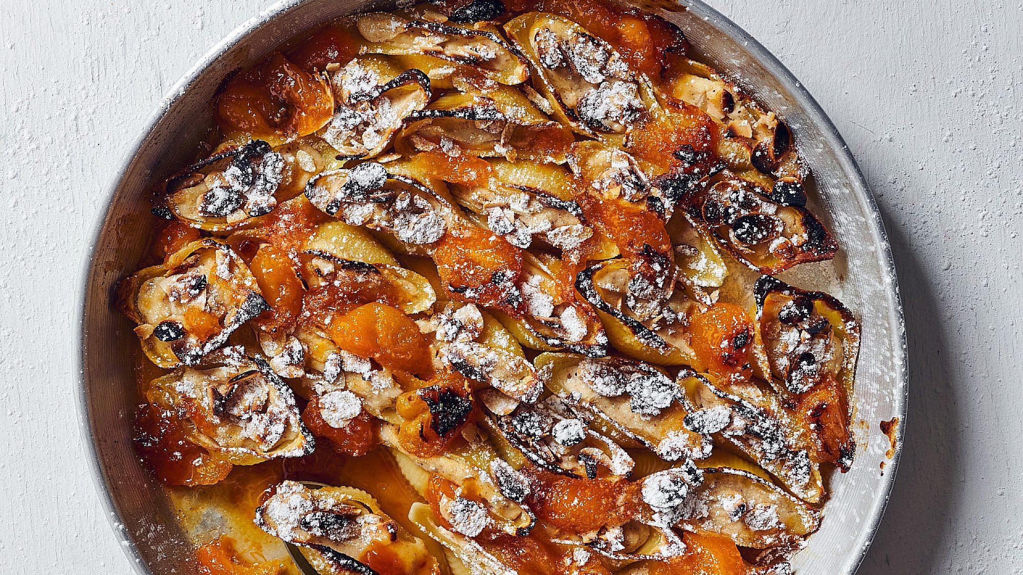 קונכיות פסטה ממולאות בגבינה של רותם ליברזון. צילום: אמיר מנחם