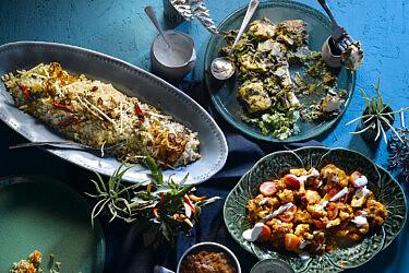 אוכל הודי של סג'ידה בן צור. צילום: רונן מנגן | סגנון: עמית פרבר