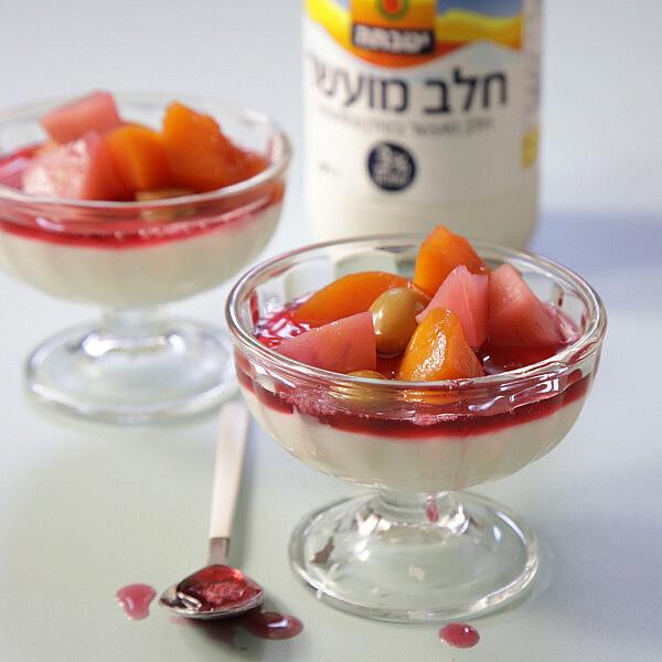 מלבי עם לפתן פירות קיץ של שף יוגב ירוס. צילום: דן לב. סטיילינג: גיא כהן
