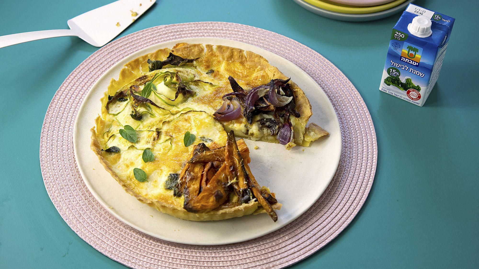 קיש ירקות משפחתי שף: יוגב ירוס צילום: דן לב, סטיילינג: גיא כהן