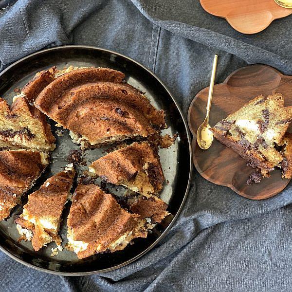 עוגת בננה, שוקולד וגבינת שמנת. ליאור משיח