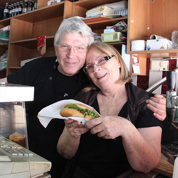 דודי ושולי פליישר, הסנדוויץ' של איציק ורותי. צילום: טל חבר