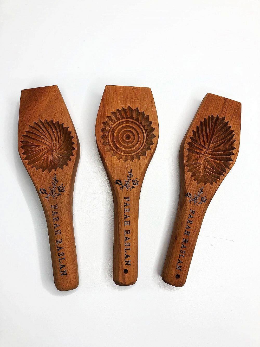 מאחורי הצורות המסורתיות מתגלה חוכמה רבה תבניות המעמול של פרח רסלאן. צילום: פרח רסלאן