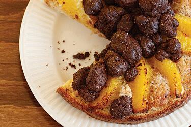 """בוסטוק קרם לוז-תפוז, פרוסות תפוז ושטרויזל קקאו של מאפיית """"מרגוזה"""" (צילום: דניה ויינר)"""