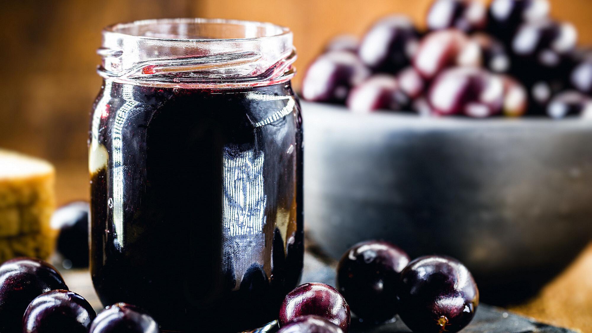 """""""ריבת יין"""" מענבים טריים. צילום: shutterstock"""