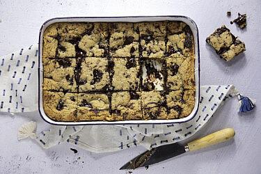 חיתוכיות שוקולד טחינה של שרית נובק | סטיילינג: שרית נובק, צילום: דן לב