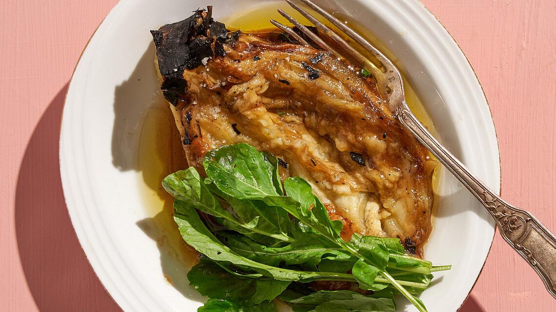 חציל בדבש חצילים וג'ינג'ר של שף רן וייס   צילום: אנטולי מיכאלו
