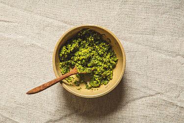 מחית קארי ירוק של מיכל חביביאן. צילום: שני בריל